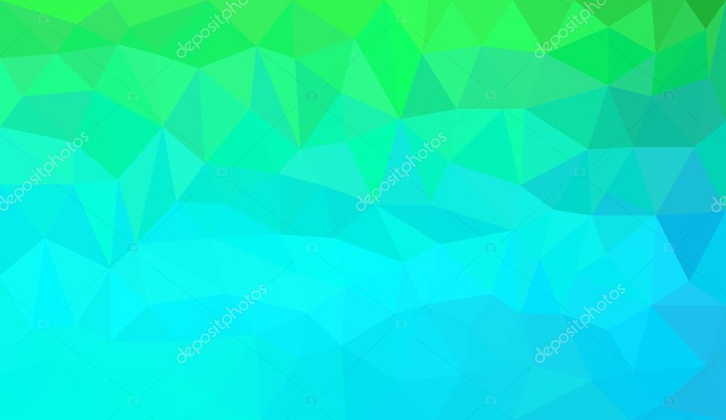 Blauen Green Gradient Abstract Polygon Hintergrund