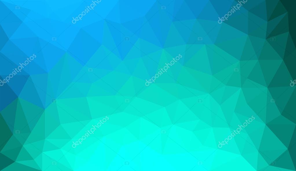 Fundo De Polígono Abstrato Azul Degradê Verde