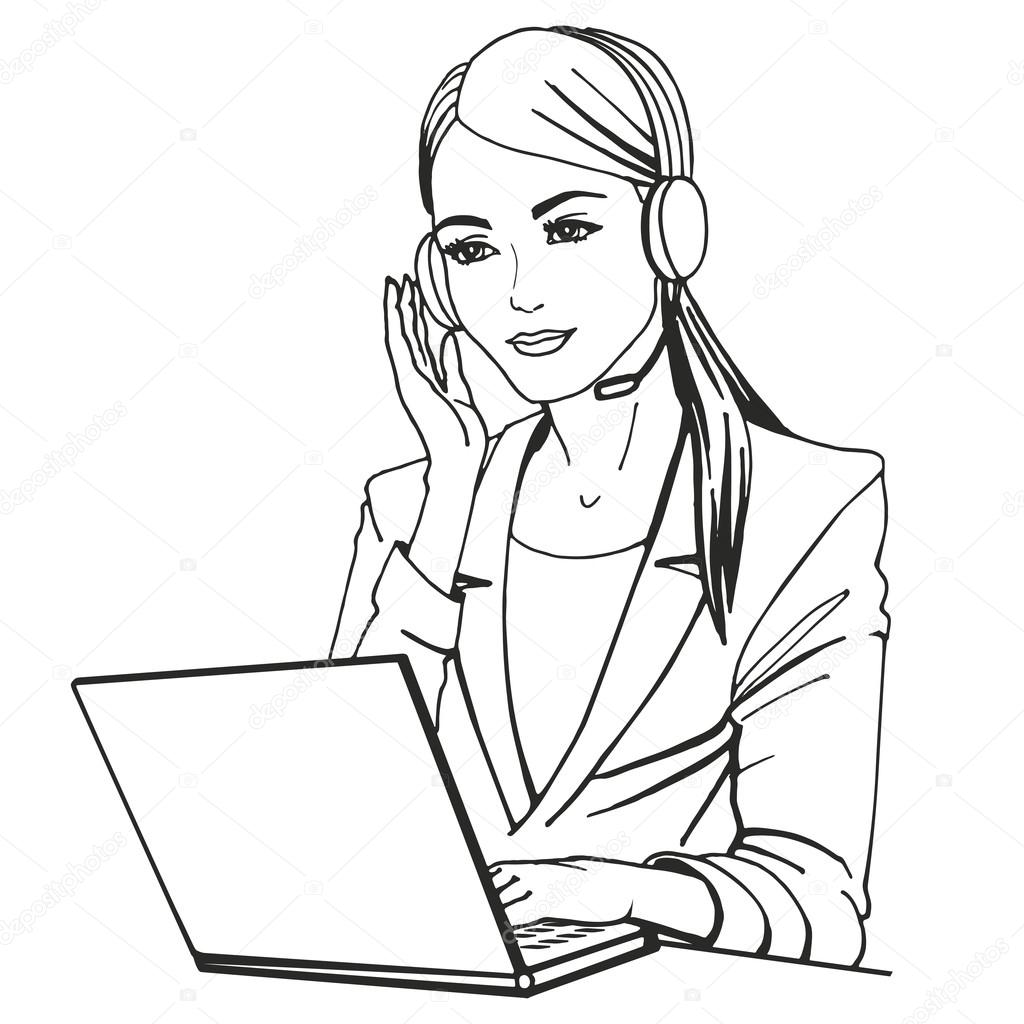 vector illustration of a with headphones stock