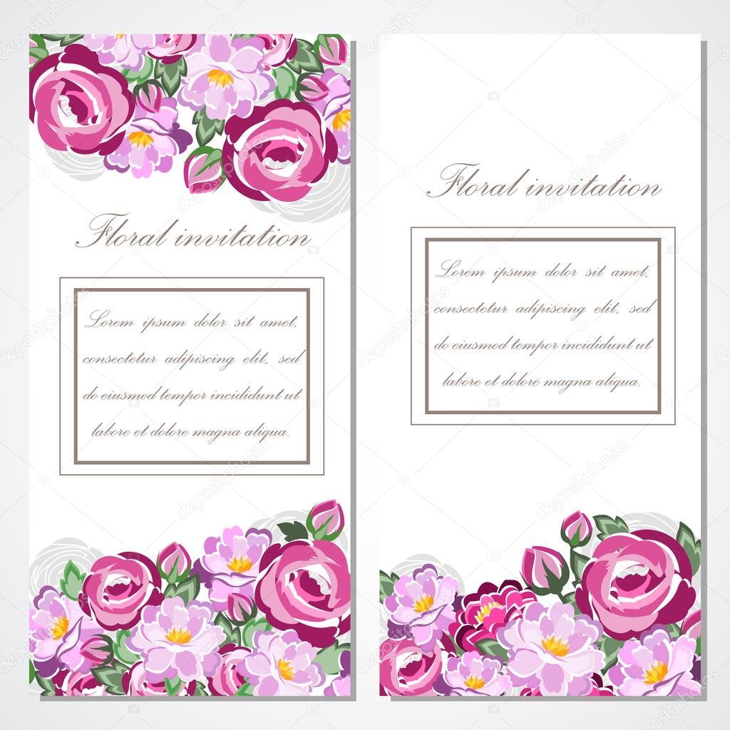 Carte dinvitation de vecteur avec des roses roses pour mariage carte dinvitation de vecteur avec des roses roses pour mariage mariage anniversaire saint valentin pour votre conception vecteur par stopboris Choice Image