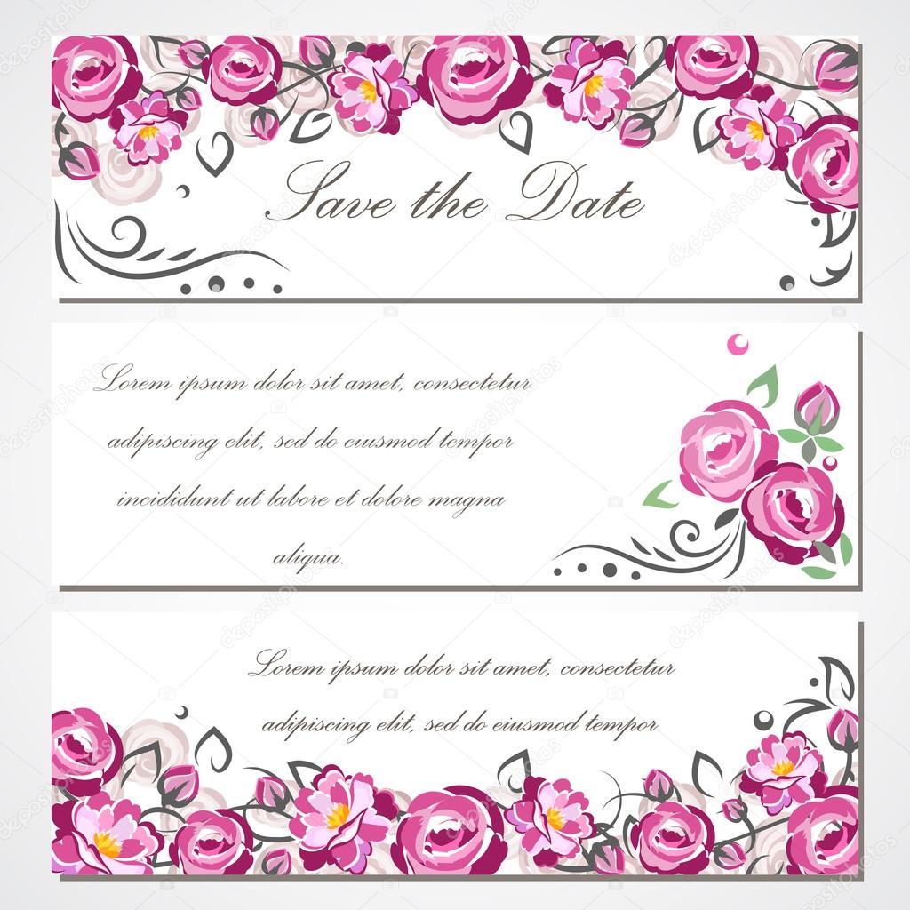 Vectores Tarjetas De Matrimonio Tarjeta De Invitación De