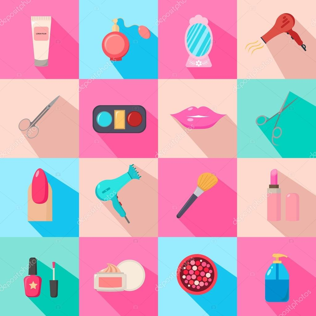 Beauty Salon Set Of Cartoon Icons Colorful Background New Business Vector Illustration Stock Vector C Lrsga Hotmail Com 118147538