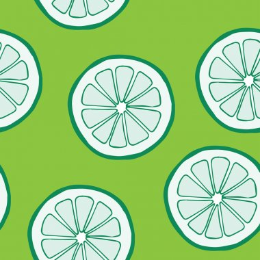 Seamless pattern with limes