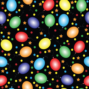 Seamless with balloons of different color