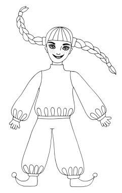 Fun girl with long hair