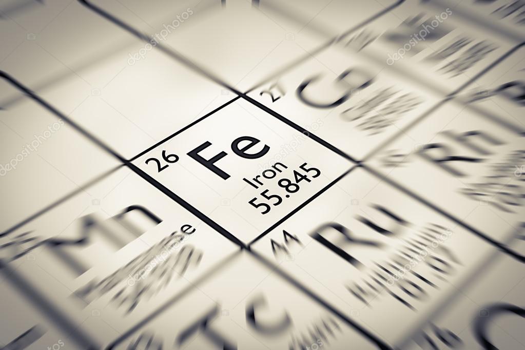 Centrarse en el elemento qumico hierro foto de stock antoine2k centrarse en hierro elemento qumico de la tabla peridica de mendeleiev foto de antoine2k urtaz Images