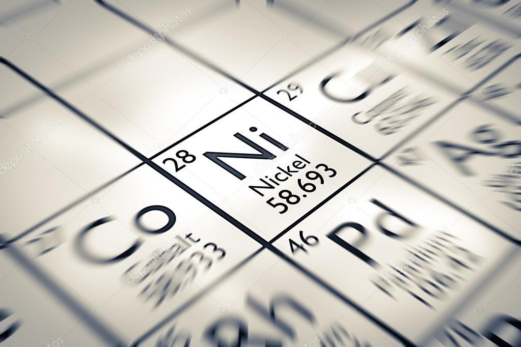 Elemento qumico de nquel se centran foto de stock antoine2k centrarse en el elemento qumico de nquel de la tabla peridica de mendeleiev foto de antoine2k urtaz Choice Image