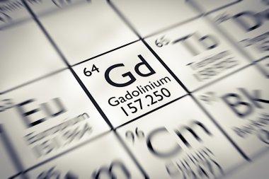 Focus on rare earth Gadolinium Chemical Element
