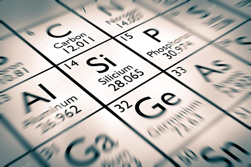 Focus On Silicon Chemical Element Stock Photo Antoine2k 99787198