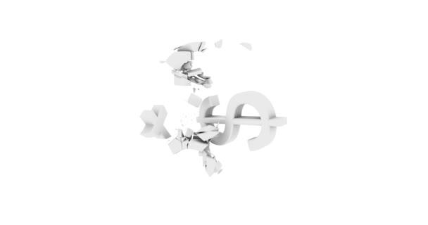 symbol dolaru přeruší Libra symbol bílá neutrální image styl