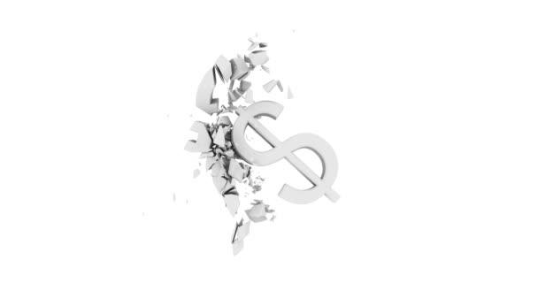 symbol dolaru zlomí Euro symbol bílá neutrální image styl