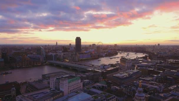 London skyline from above - amazing sky