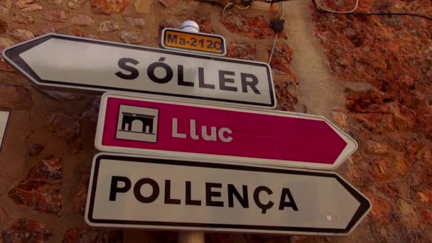 Traffic directions signs in a small spanish village
