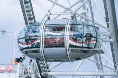 London Eye capsules LONDON, ENGLAND - FEBRUARY 22, 2016