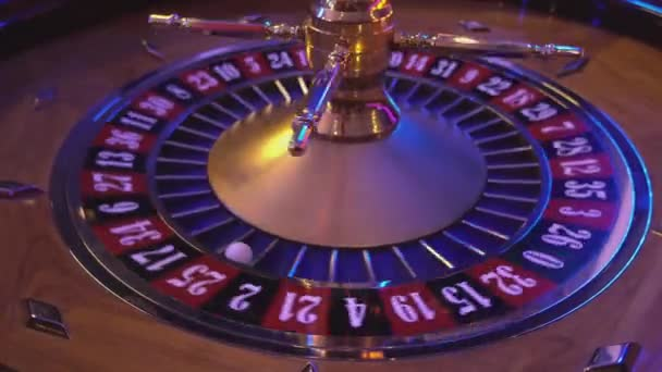 Turning Roulette Wheel in a casino