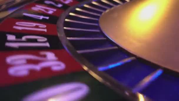 Roulette-Rad in einem Casino - extreme Nahaufnahme