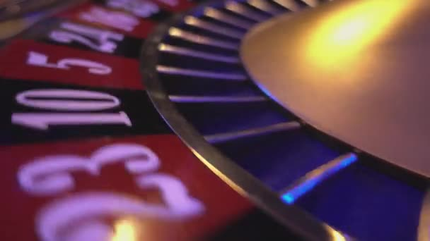 The numbers of a roulette wheel - extreme close up