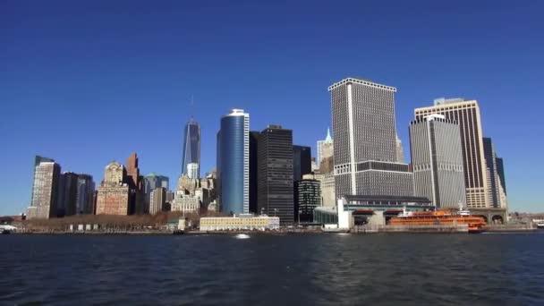 Manhattan Skyline finanční čtvrti Manhattanu Downtown