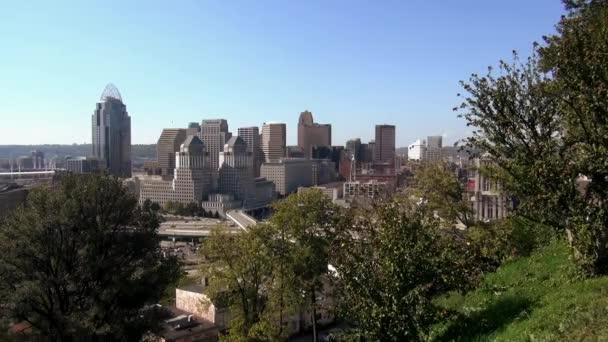 La vista fantastica della città di Cincinnati sullo skyline
