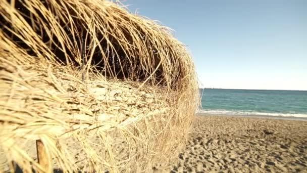 Malaga sandy beach on a sunny day