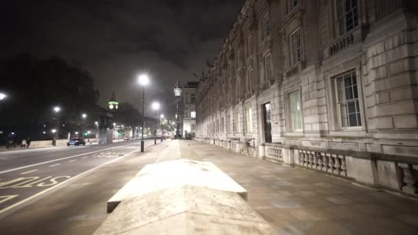 Whitehall Street and Horse guards parade in London by night  - LONDON, ENGLAND