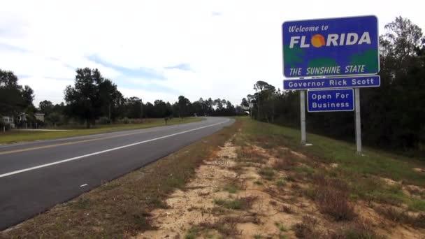 Florida. Státní hranice Florida / Usa 16 října 2013