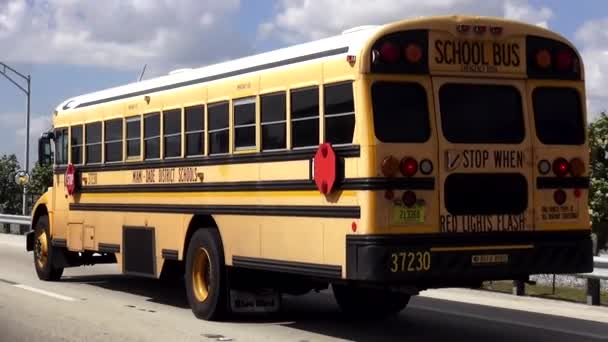 School Bus Miami Dade District Schools  MIAMI, FLORIDA/USA OCTOBER 19, 2015