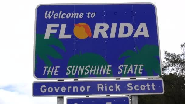 Vítejte na Floridu. Státní hranice znamení Florida / Usa 16 října 2013