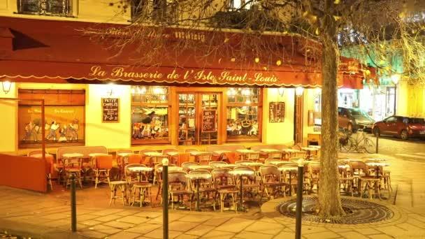 Autentické Paris street café - pivnice - Paříž, Francie
