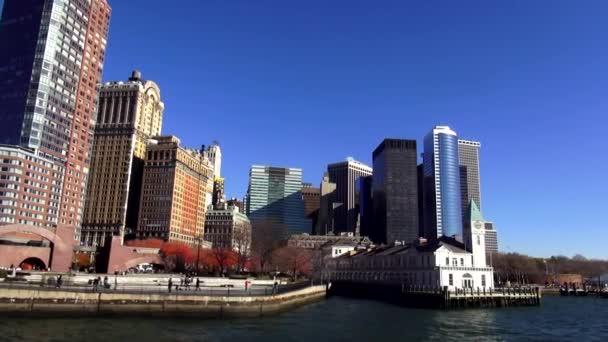 Battery parku a finanční čtvrti Manhattanu