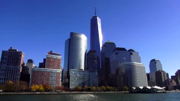 Manhattan finanční čtvrti s nového světového obchodního centra