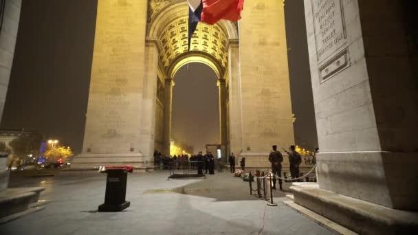 Famous monument Arc de Triomphe by night - PARIS, FRANCE