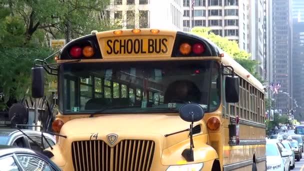 School Bus in Chicago - CHICAGO, ILLINOIS/USA
