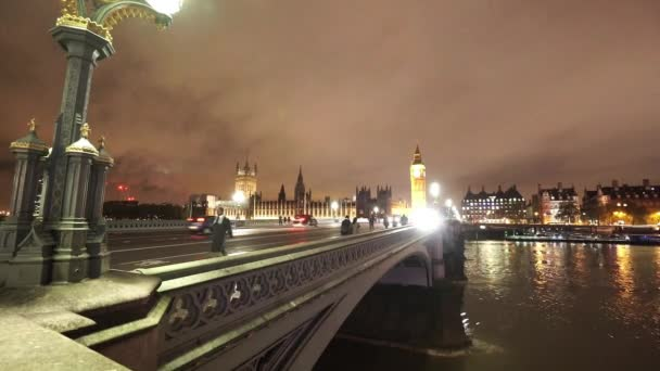 Westminster Bridge a Big Ben v noci - Londýn, Anglie
