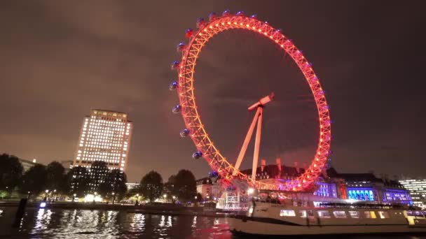 Fantastic night shot of London Eye for editorial use only  - LONDON, ENGLAND