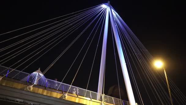 Fantastic night shot of the Golden Jubilee Bridge in London  - LONDON, ENGLAND