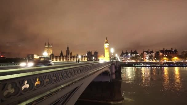 Westminster Bridge and Big Ben by night  - LONDON, ENGLAND