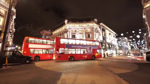 Street view of London Oxford Circus great night shot  - LONDON, ENGLAND