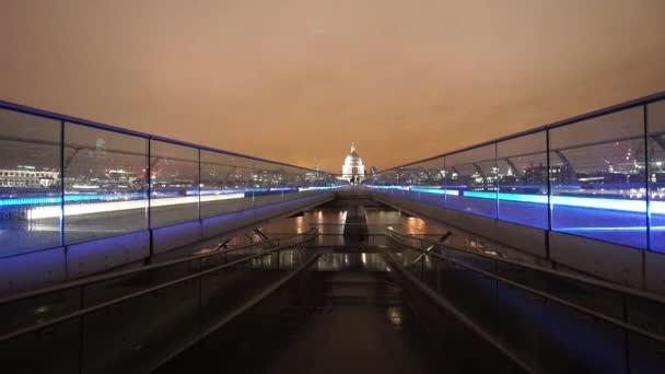 St. Pauls Cathedral and Millenium Bridge London  - LONDON, ENGLAND