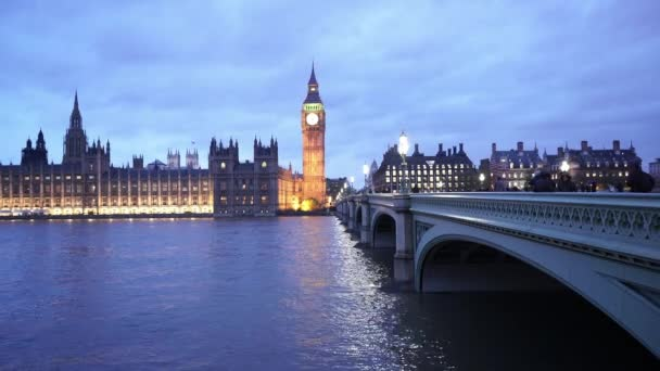 Westminster Bridge and Houses of Parliament with Big Ben in the evening  - LONDON, ENGLAND