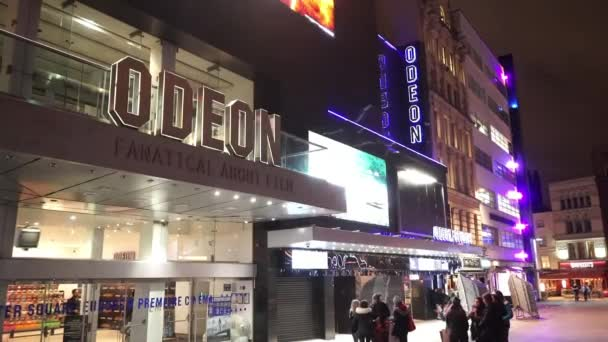 Famous Odeon Movie theatre for film premieres at London Leicester Square  - LONDON, ENGLAND