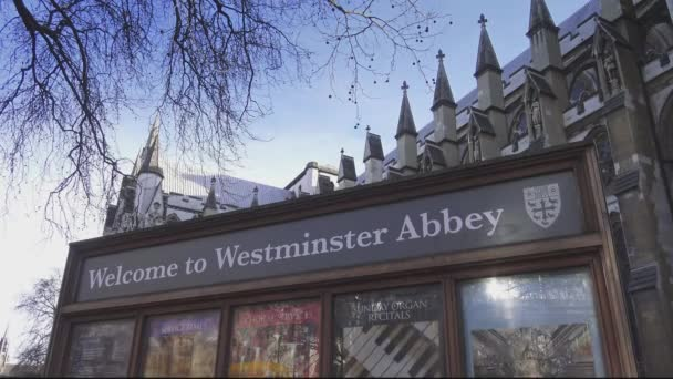 Welcome to Westminster Abbey sign  London, England