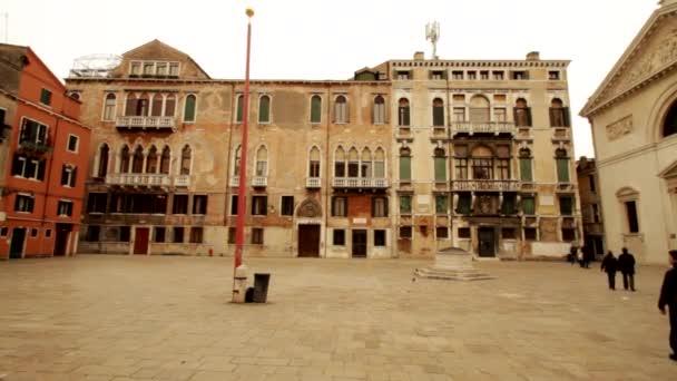 antike gebäude, platz in venezia, venezia