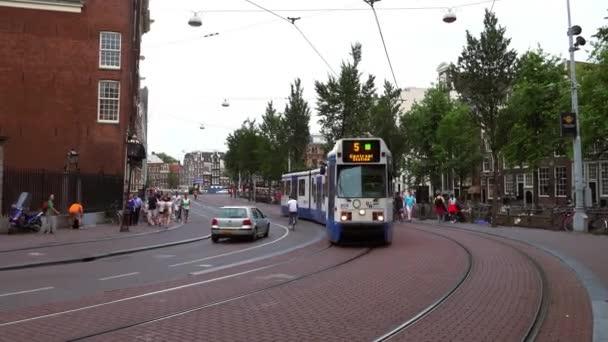 Tramvaj na hlavní nádraží Amsterdamu
