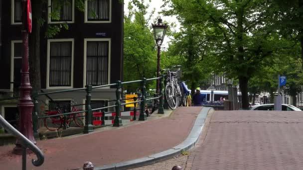 Most přes slavný Leidsegracht Amsterdam