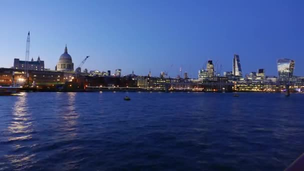 Wonderful day to night time lapse of City of London skyline in 4k