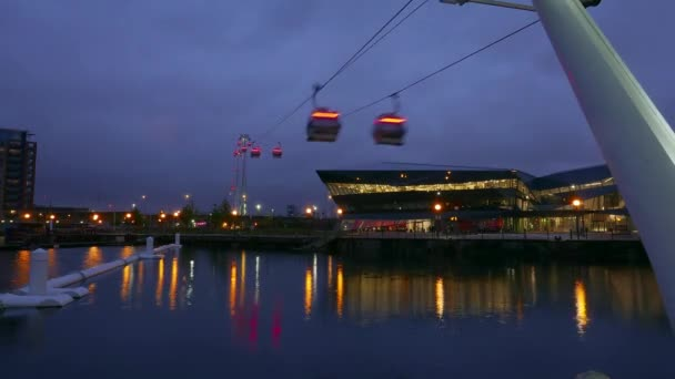Time lapse of Emirates Airline ropeway London by night