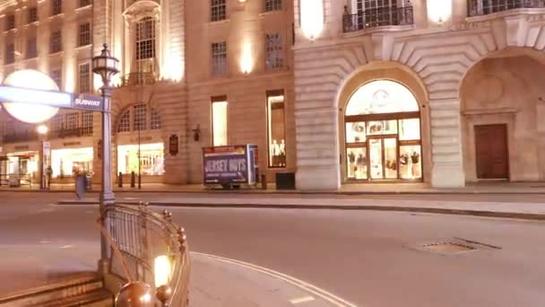 Time lapse shot of Regent street and Underground station in London
