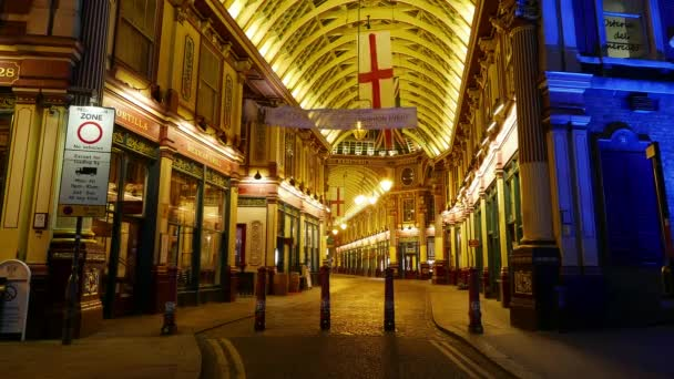 Time-lapse of Leadenhall market London by night