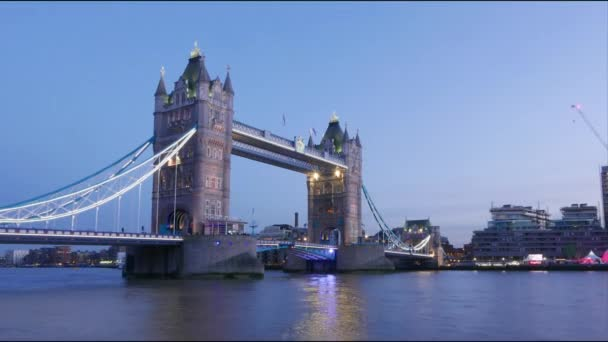 Time lapse shot of Tower Bridge London at sunset Hyper lapse